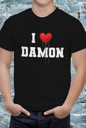 Comic Con Liverpool The Vampire Diaries I Heart Damon T-Shirt - Unisex