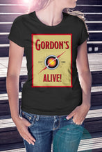 Load image into Gallery viewer, For The Love Of Sci-Fi Gordon's Alive Flash Gordon Logo T-Shirt With Back Print - Ladies