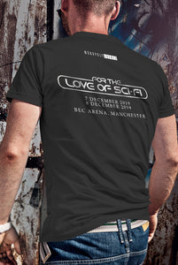 For The Love Of Sci-Fi Dredd Logo T-Shirt With Back Print - Mens