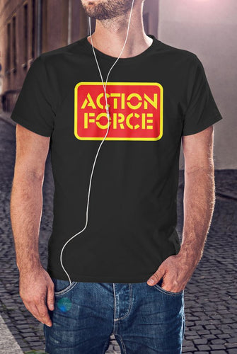 Retro Action Force Red/Yellow Logo T-Shirt - Mens