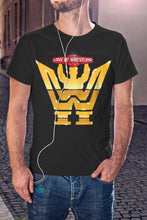 Load image into Gallery viewer, For The Love Of Wrestling Gold Logo T-Shirt With Back Print - Mens