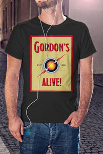 For The Love Of Sci-Fi Gordon's Alive Flash Gordon Logo T-Shirt With Back Print - Mens
