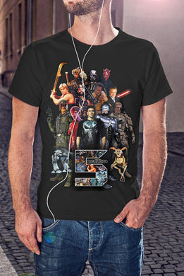 For The Love Of Sci-Fi Official 2019 Poster T-Shirt With Back Print - Mens