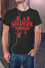 Load image into Gallery viewer, For The Love Of Sci-Fi Stranger Things Upside-Down T-Shirt With Back Print - Mens