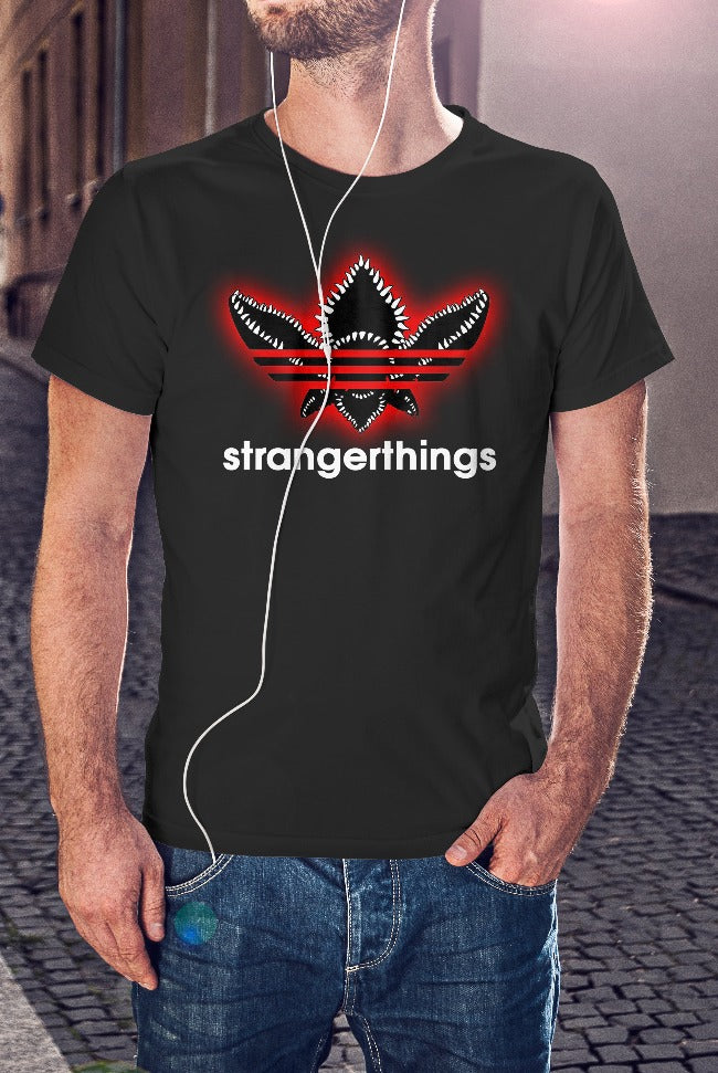 For The Love Of Sci-Fi Stranger Things Spoof T-Shirt With Back Print - Mens