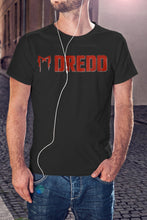 Load image into Gallery viewer, For The Love Of Sci-Fi Dredd Logo T-Shirt With Back Print - Mens