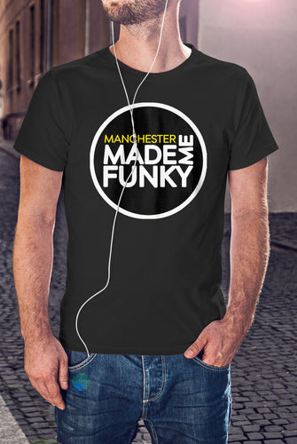 Black Manchester Made Me Funky Logo T-Shirt - Unisex
