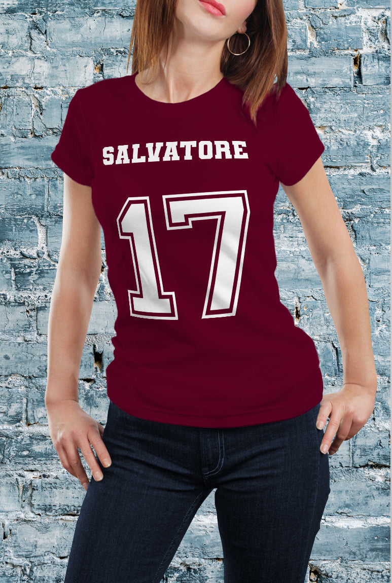 Comic Con Liverpool The Vampire Diaries Salvatore 17 T-Shirt - Ladies