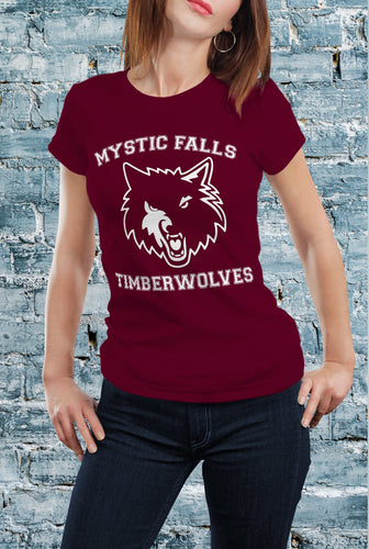 Comic Con Liverpool The Vampire Diaries Timberwolves T-Shirt - Ladies