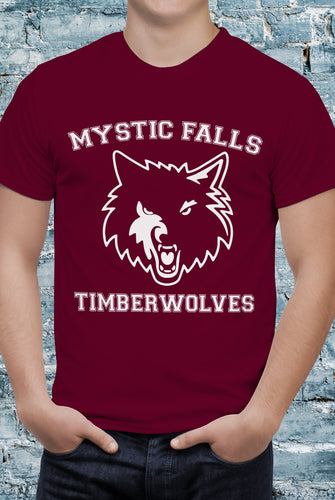 Comic Con Liverpool The Vampire Diaries Timberwolves T-Shirt - Unisex