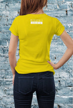 Load image into Gallery viewer, Monopoly Events Rear Of Tee Yellow - Ladies