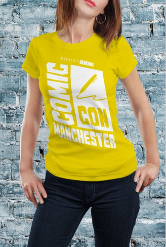 Comic Con Manchester Logo T-Shirt With Back Print - Ladies