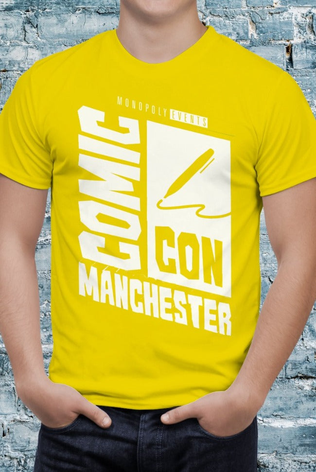 Comic Con Manchester Logo T-Shirt With Back Print - Mens