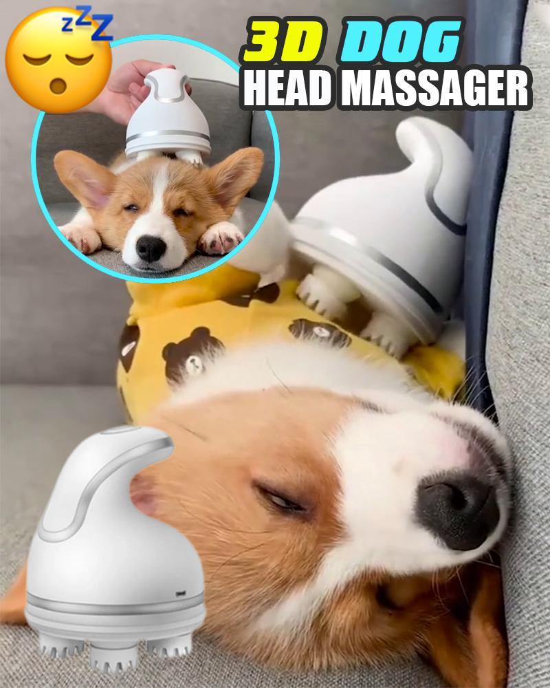 3D Dog Head Massager