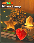 3D LED Mirror Lamp