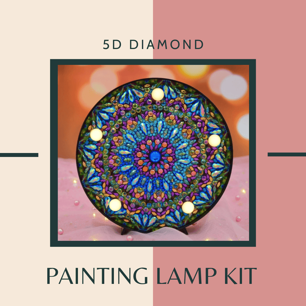 5D Diamond Painting Lamp Kit