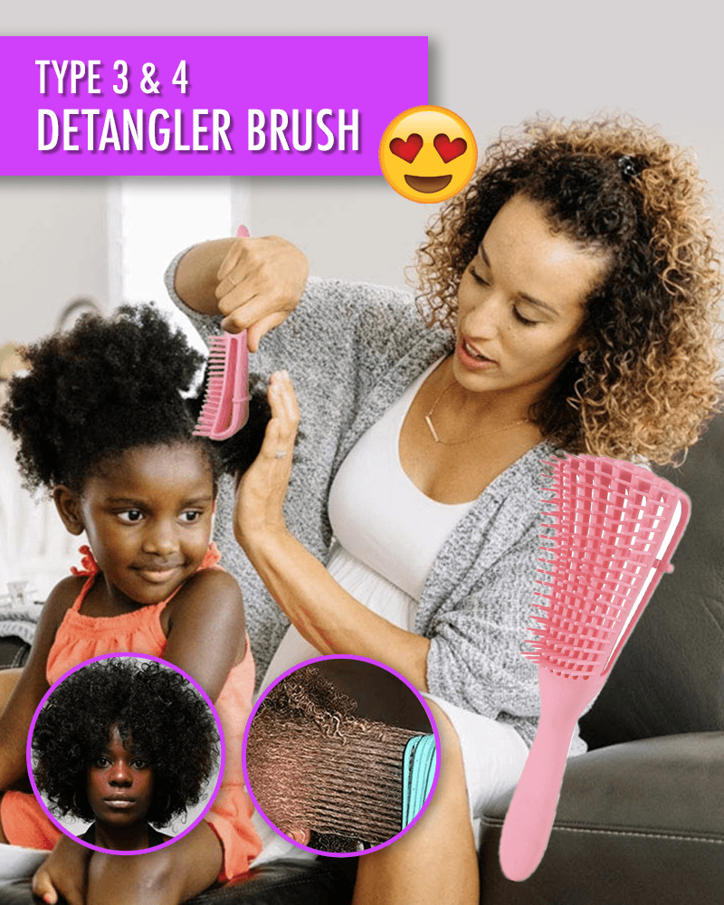 Type 3 & Type 4 Hair Detangler Brush