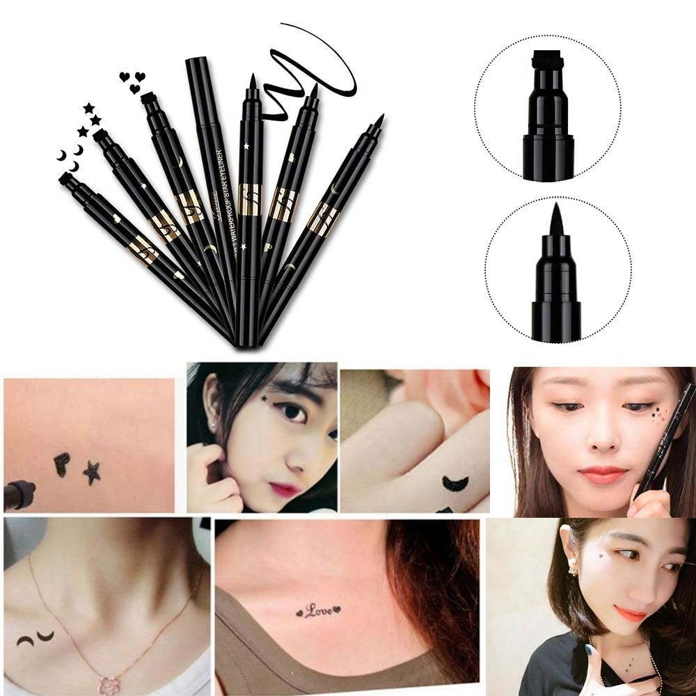 Waterproof  Eyeliner Pen & MakeUp Stamp Tattoo
