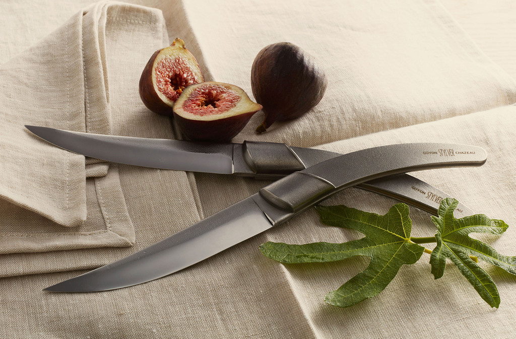 Stylver raw forge steak knife collection, designed and handmade by Goyon-Chazeau