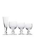 Ballon glassware set, 24 stem glasses handmade in France by La Rochere glass blowers