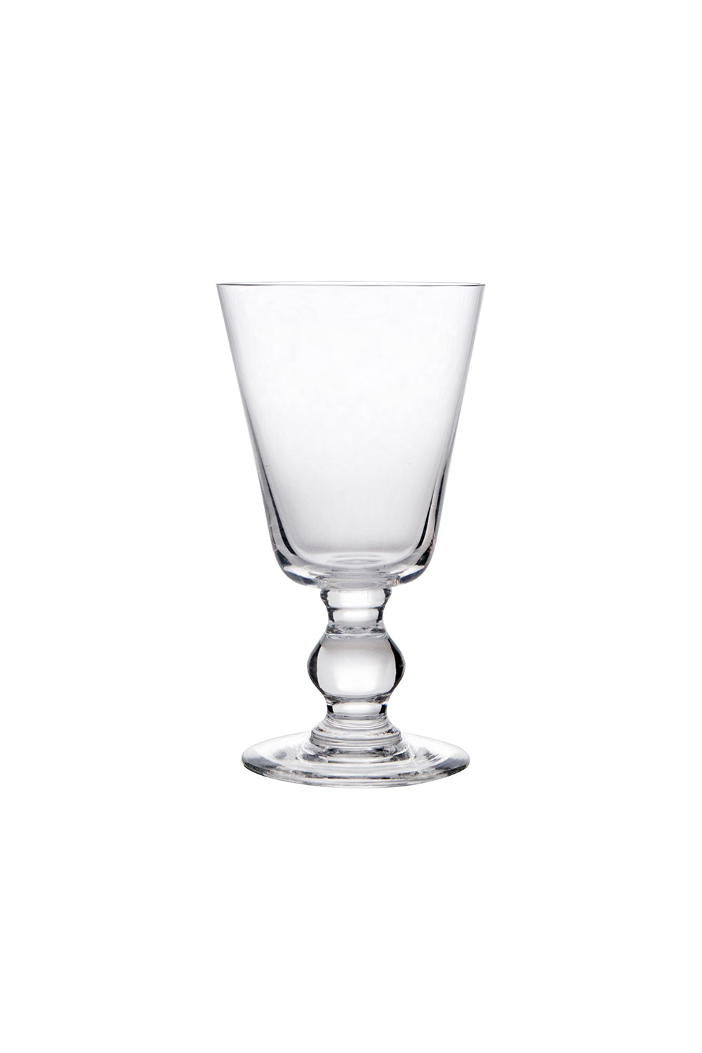 Bocage stem water glass, handmade in France by La Rochere glass blowers
