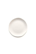 Jardin de Maguelone dinner plate, garlic color, by Jars Ceramistes. Ceramic dinnerware handcrafted in France. Dishwasher and microwave safe.