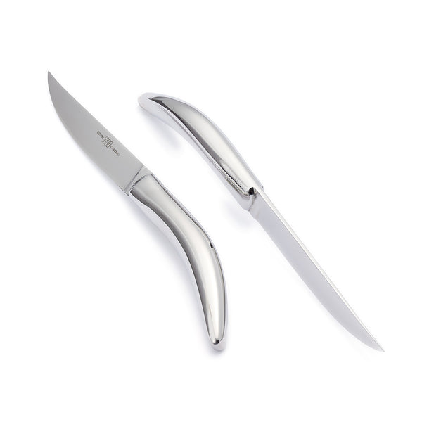 Steak knives Stylver collection, stainless steel, 100% made in France by Goyon-chazeau
