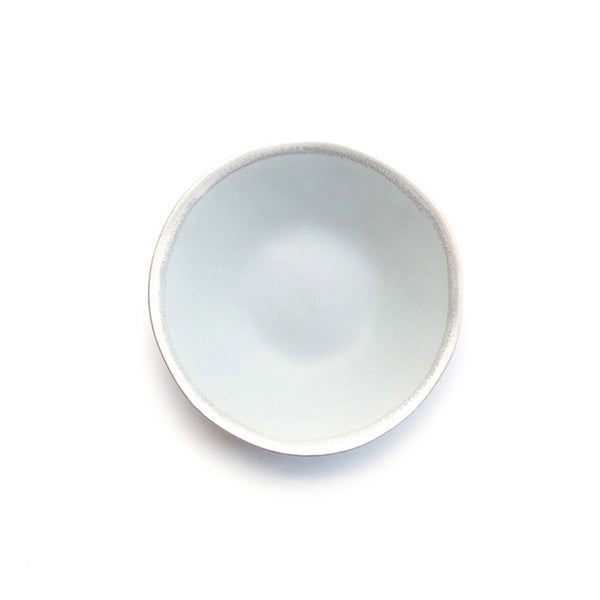Reflets d'Argent soup plate, grey, by Jars Ceramistes. Ceramic dinnerware handcrafted in France. Dishwasher safe.