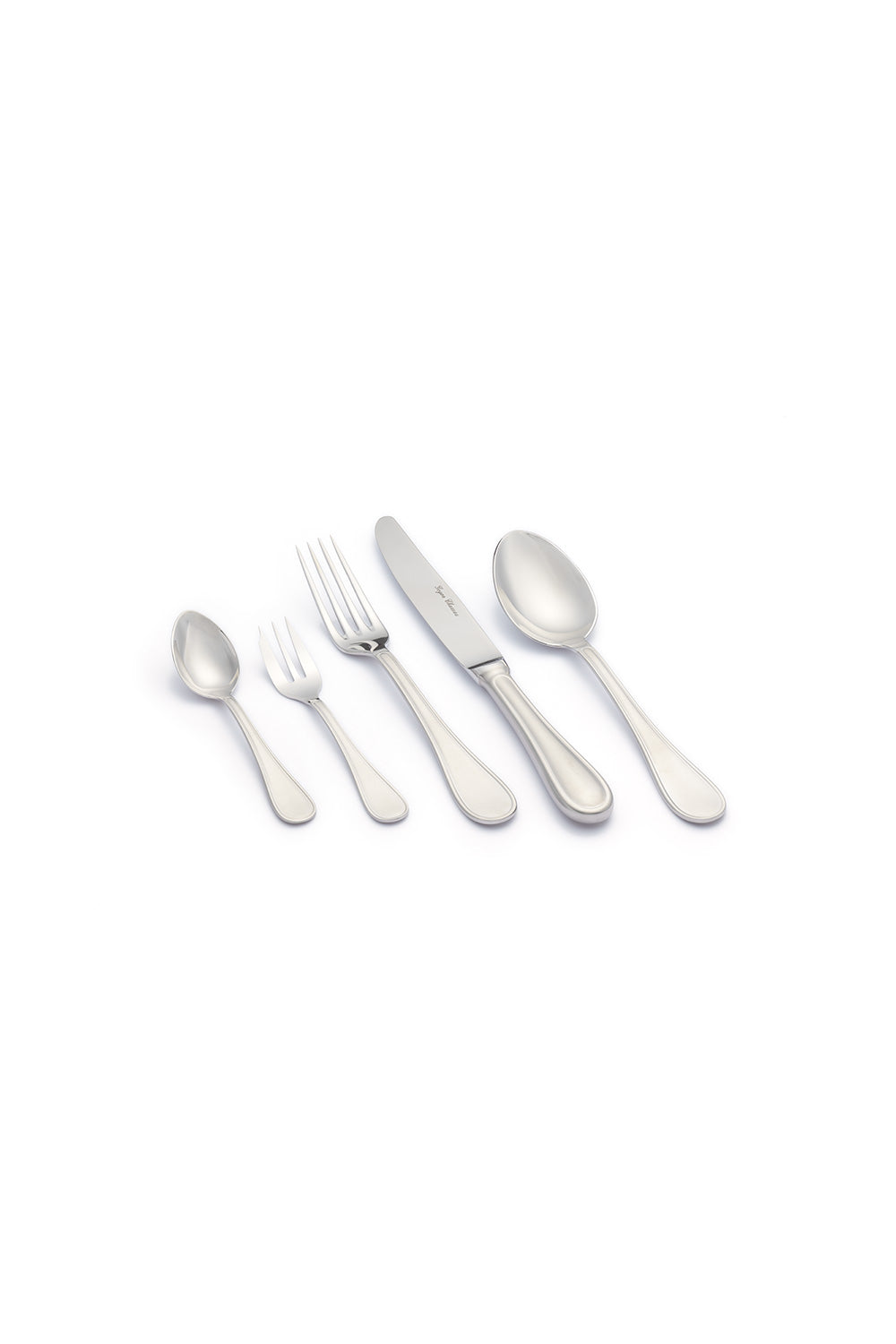 Cottage collection stainless steel flatware set, classic and timeless, handmade in France