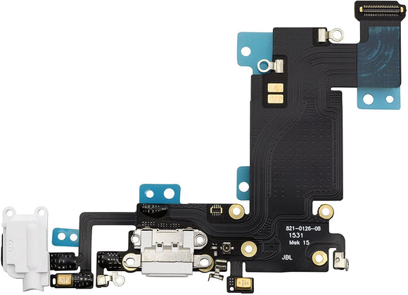 iPhone 11 - Replacement Charging Dock Flex Cable With Main Microphone - White - Premium