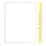 iPad 2/3/4 Digitizer Plastic Frame - White