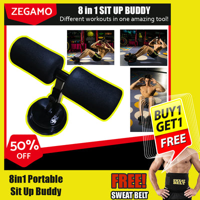 8 in 1 Sit Up Buddy + FREE Sweat Belt