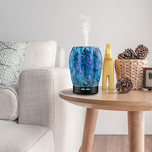 Essential Oil Diffuser 100ml Glass Aromatherapy Handcraft Ultrasonic