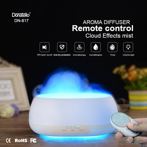 Air Humidifier Remote Control Ocean Mist Wood Grain