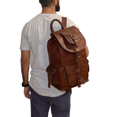 Real Leather Backpack |  Hulsh
