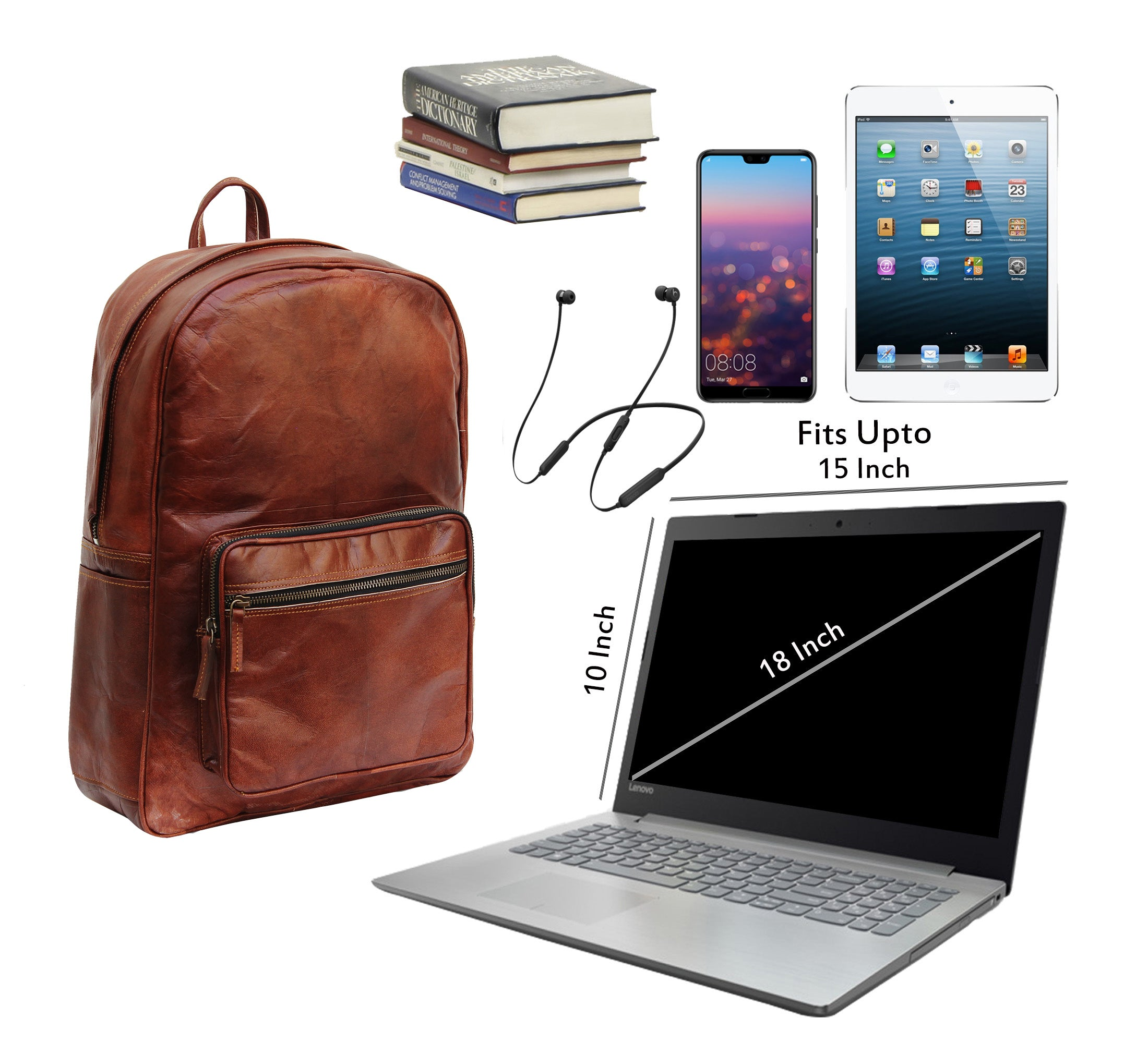 College Backpack with Laptop Padding and Top Handle
