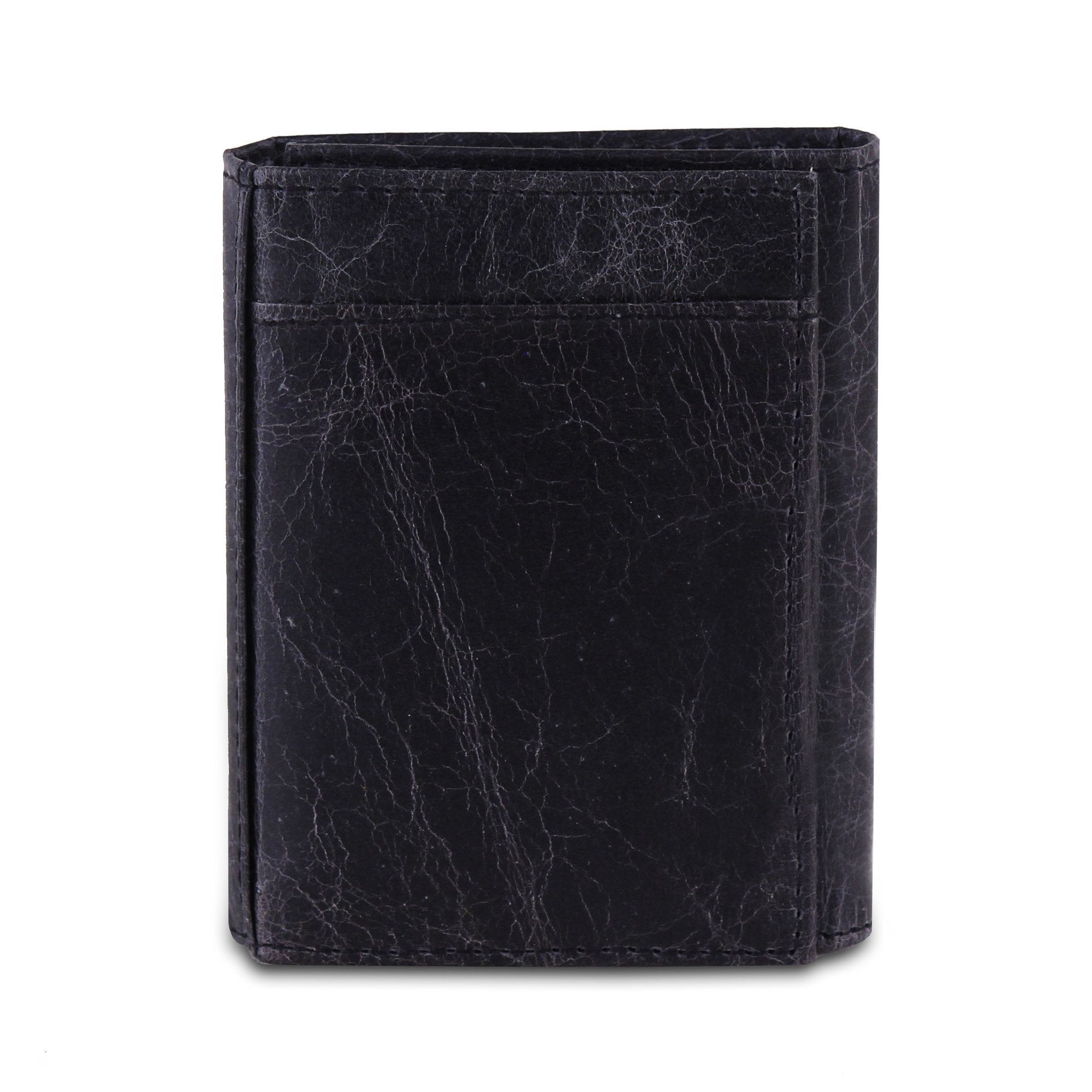 Genuine Buffalo Leather Trifold Wallet For Men