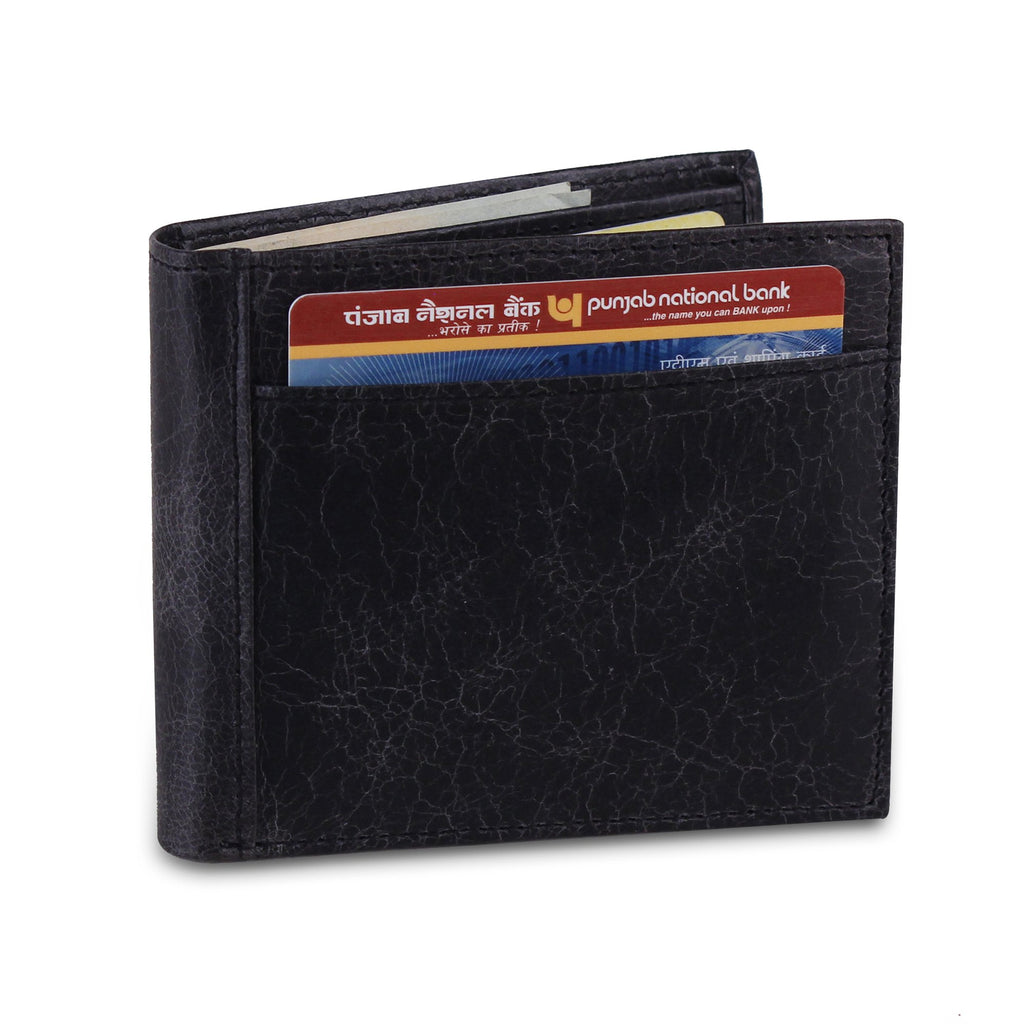 Genuine Buffalo Leather Bifold Wallet For Men - Brown