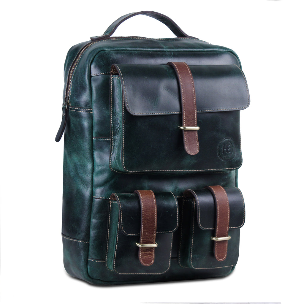 Dark Green Multi pocket backpack