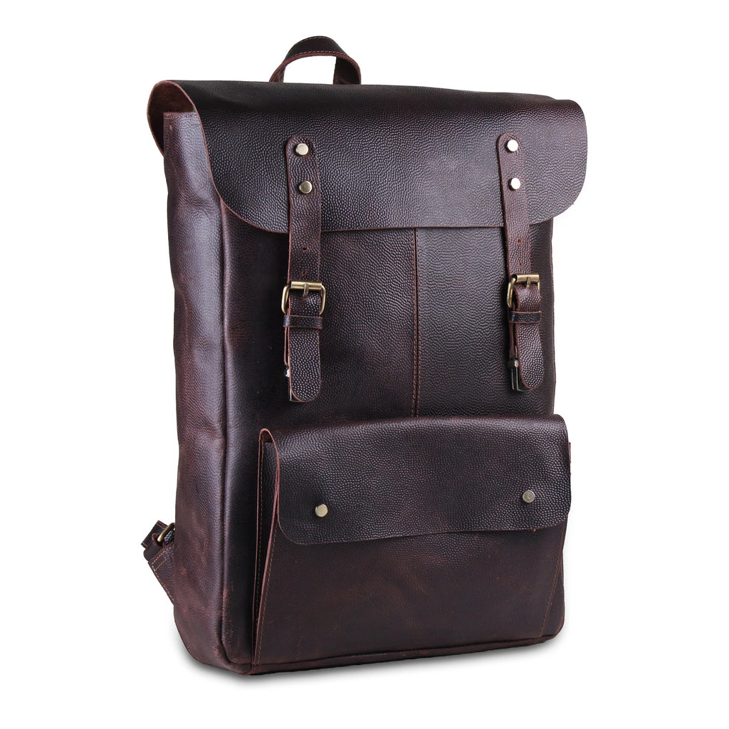 Commute Buffalo Leather Backpack bag