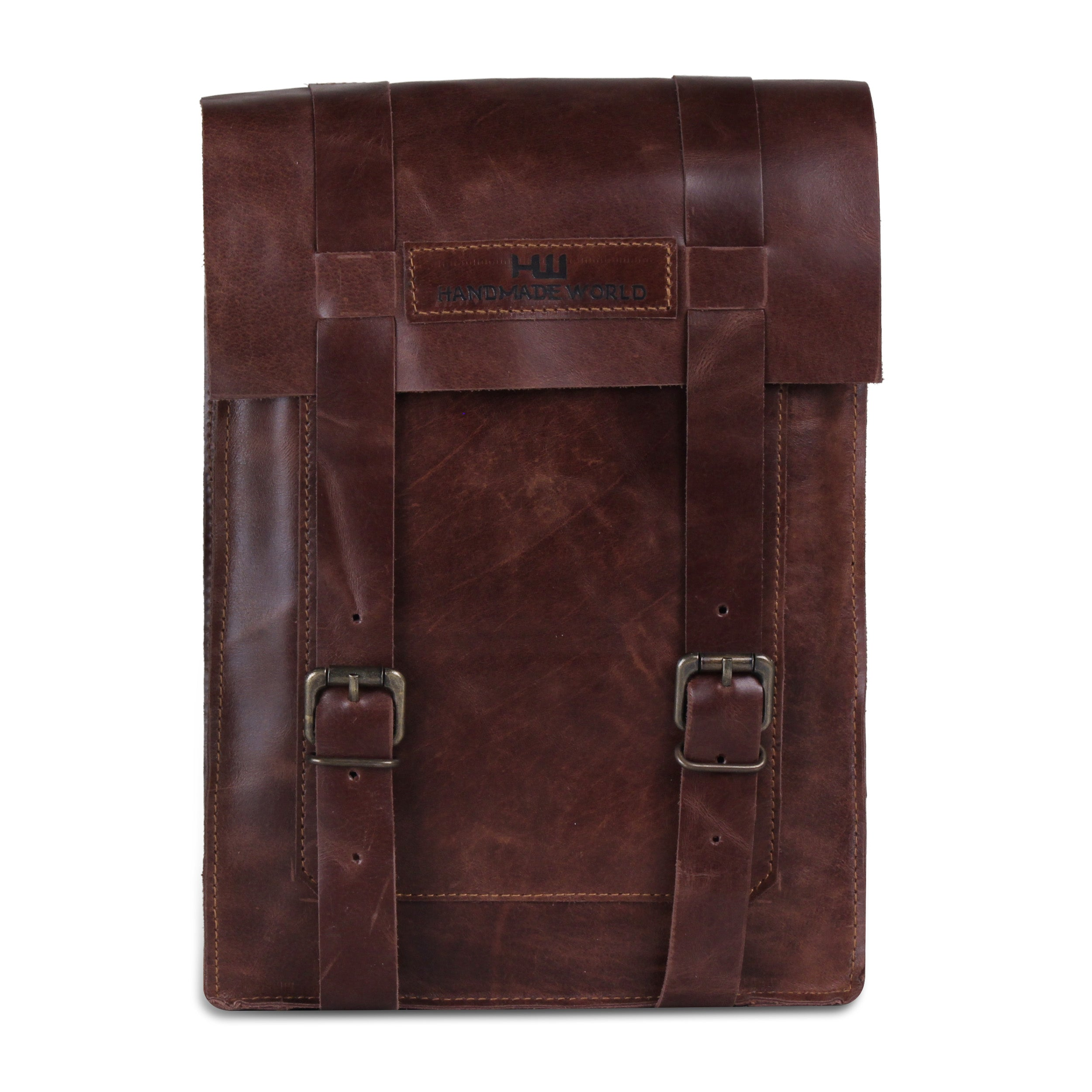 Leather Messenger bag with Top Handle for iPad