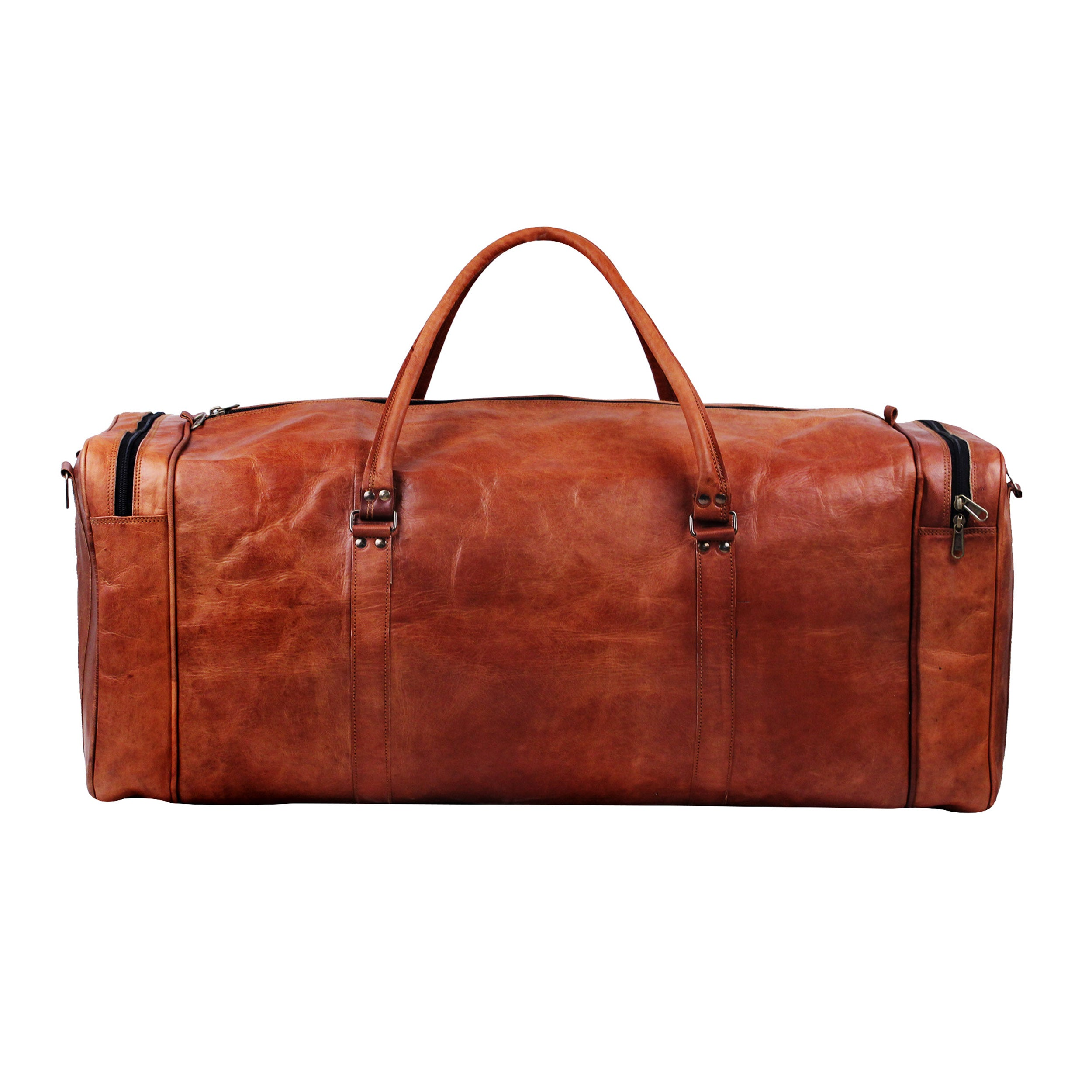 Best leather duffle bag by Hulsh - Brown