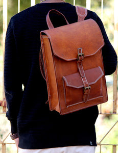 Leather Messenger Bag with Adjustable Strap