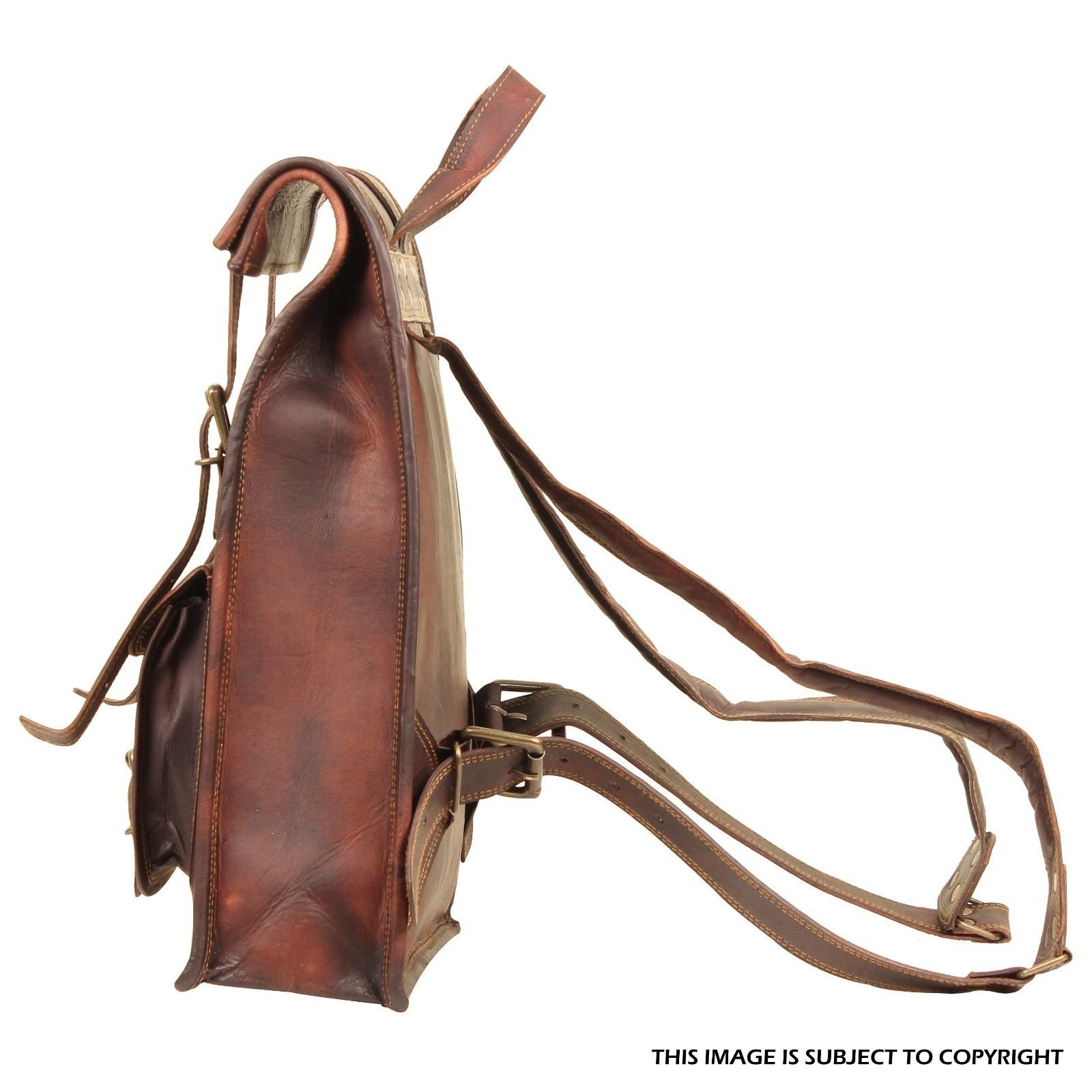 Leather Backpack Bag for travel Hiking college by hulsh