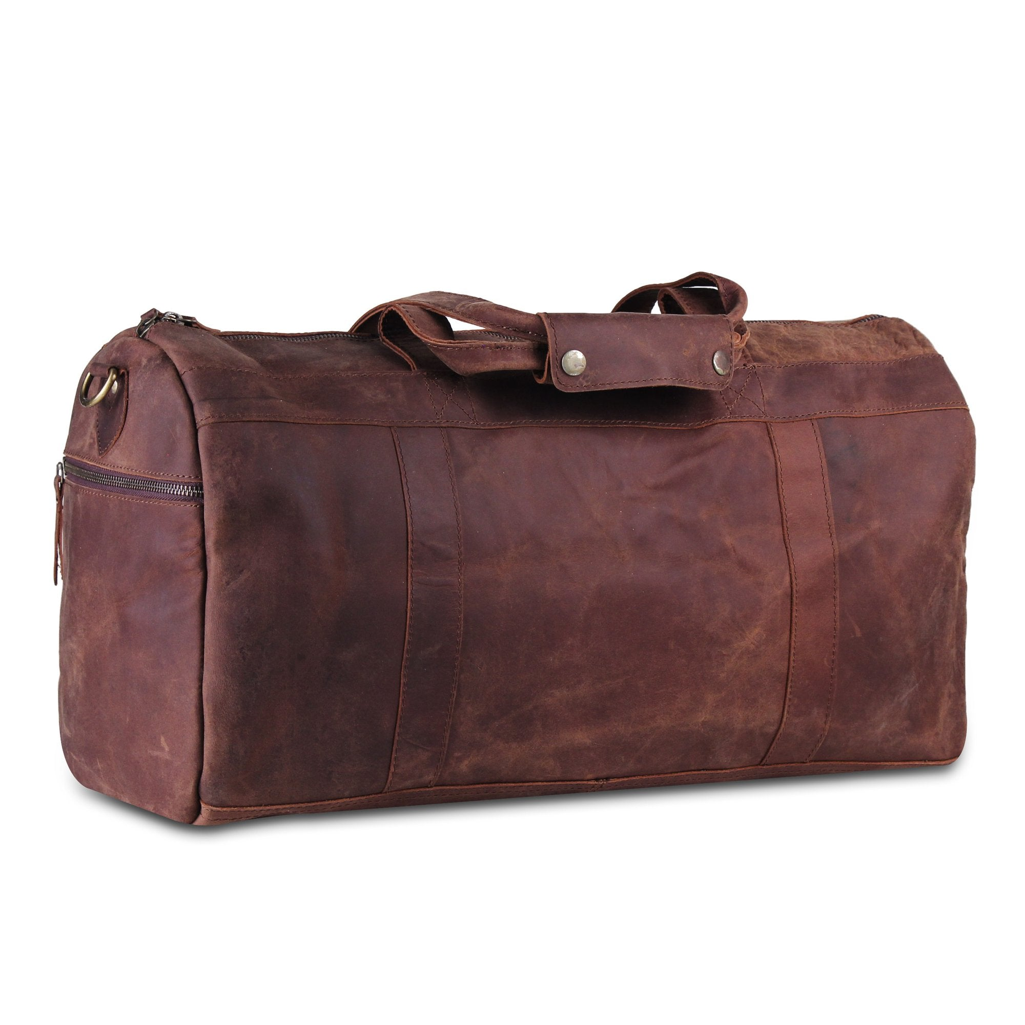 Good Quality Leather Duffle Bag with Adjustable Strap