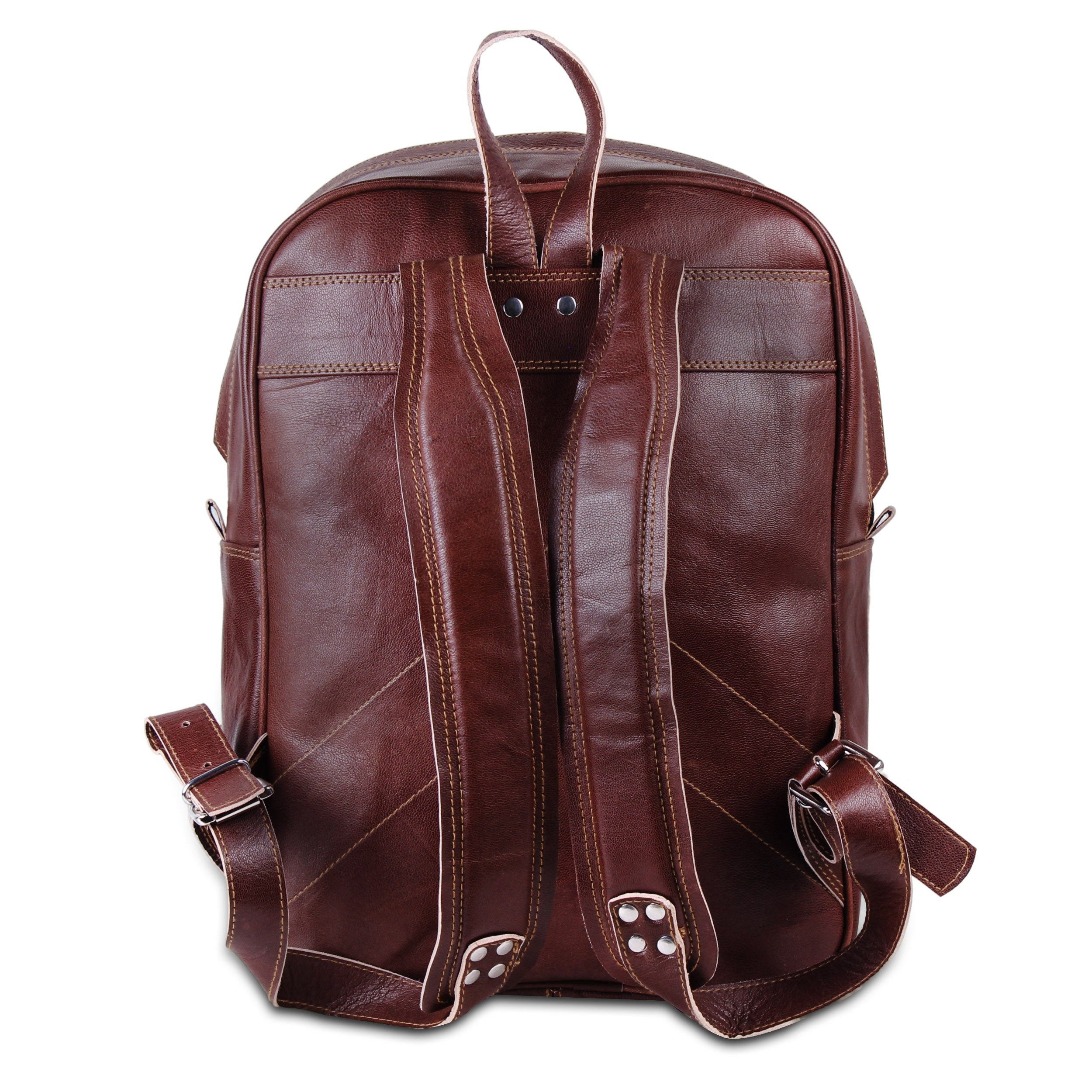 School Travel Leather Backpack