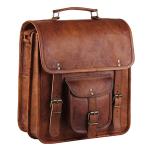 Genuine Full Grain Macbook Pro 13 Leather Messenger Bag