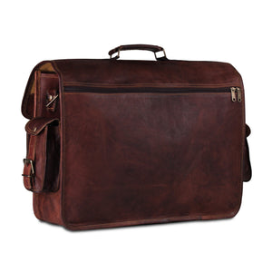 Unisex Full Grain Leather Satchel Shoulder Bag