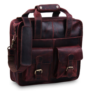 Large Buffalo Messenger Briefcase Bag with Top Handle