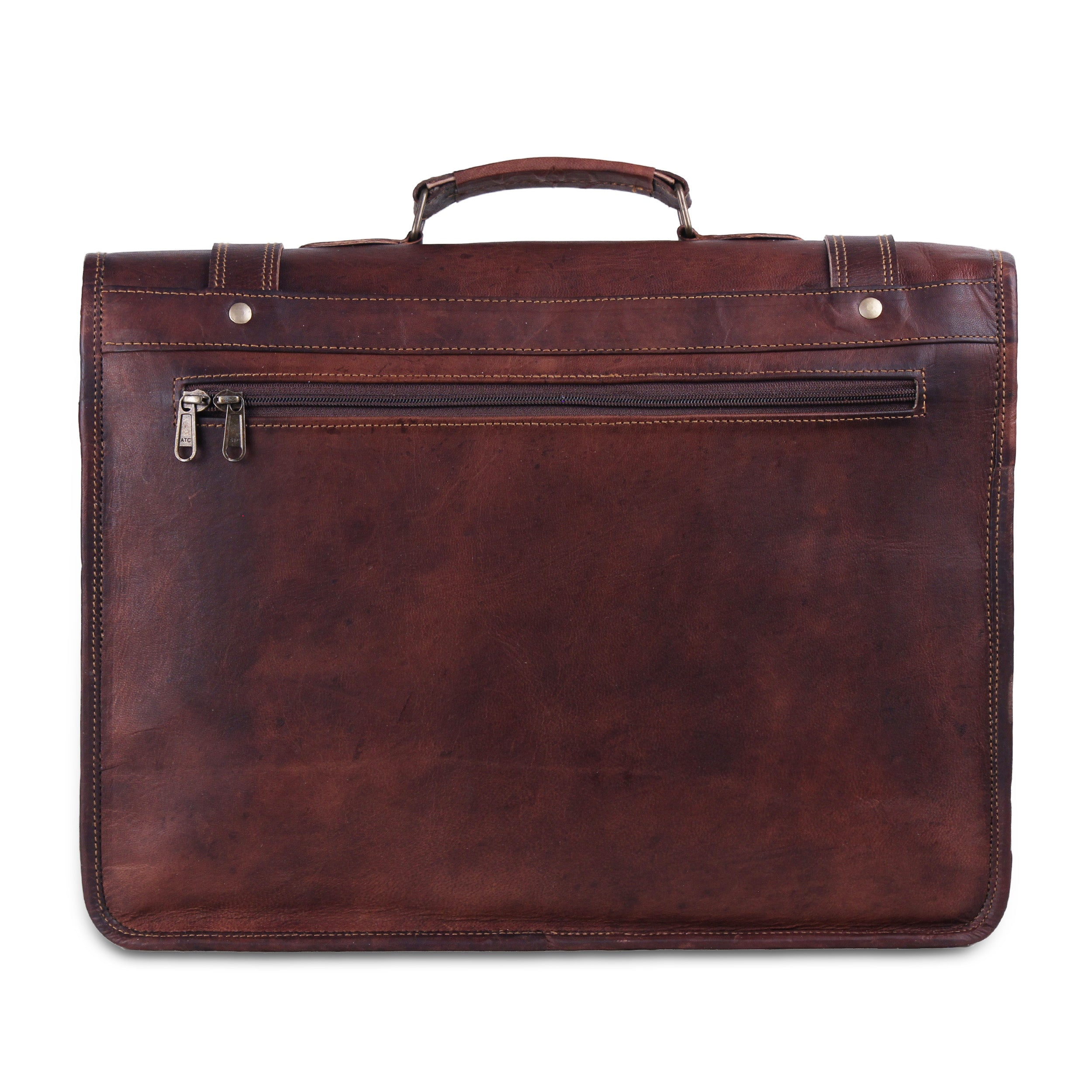 vintage leather messenger Briefcase bag